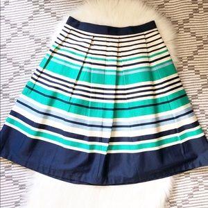 Women's Downeast Strip Pleated midi Circle Skirt M